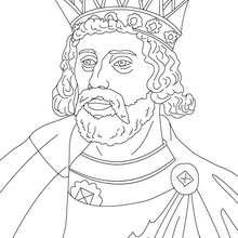 KÖNIG HERNY III zum Ausmalen