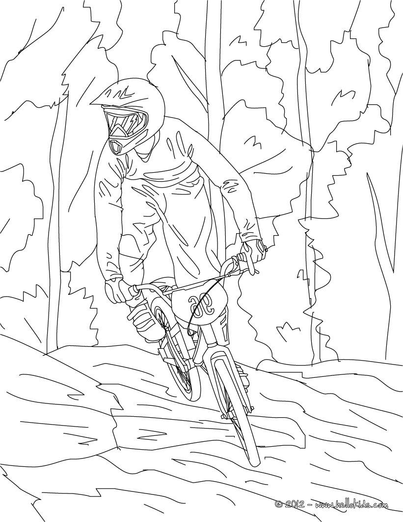 Mountainbike Zum Ausmalen Zum Ausmalen De Hellokids Com