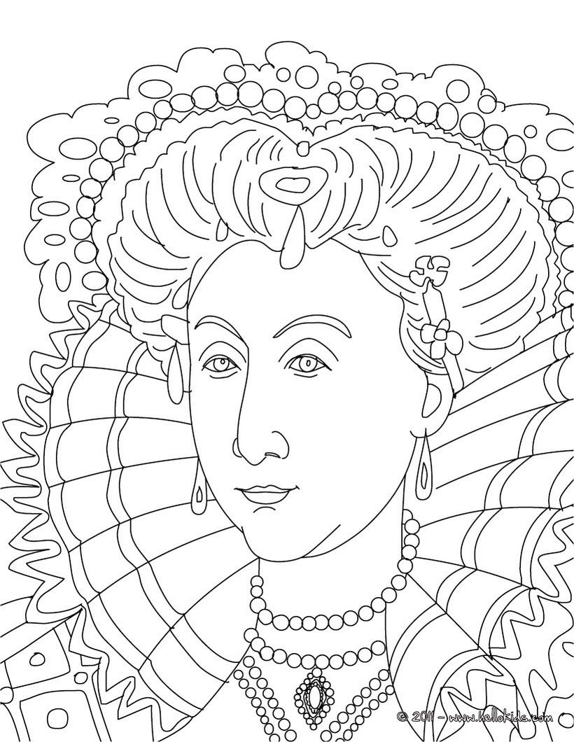 ausmalbilder queen elizabeth