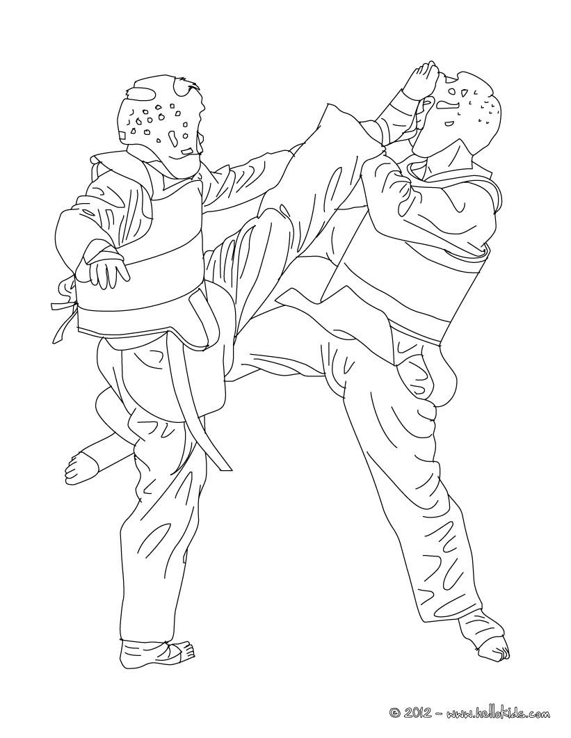 taekwondo coloring pages - taekwondo kampfsport zum ausmalen zum ausmalen de