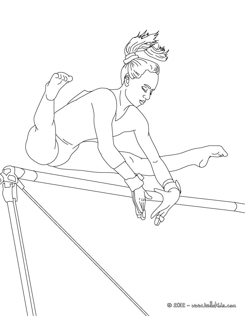 Barrenturnen zum ausmalen zum ausmalen - Dessin gymnaste ...
