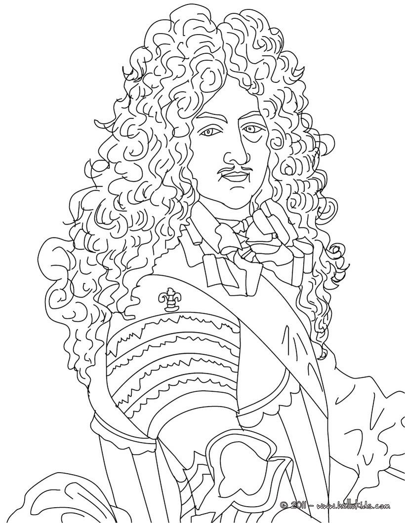 king portrait coloring pages - photo#5