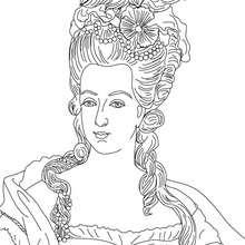 Königin Marie Antoinette Zum Ausmalen Zum Ausmalen De Hellokids Com