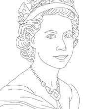 KÖNIGIN ELIZABETH II zum Ausmalen