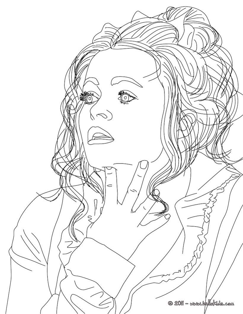 Helena Bonham Carter Zum Ausmalen Zum Ausmalen De
