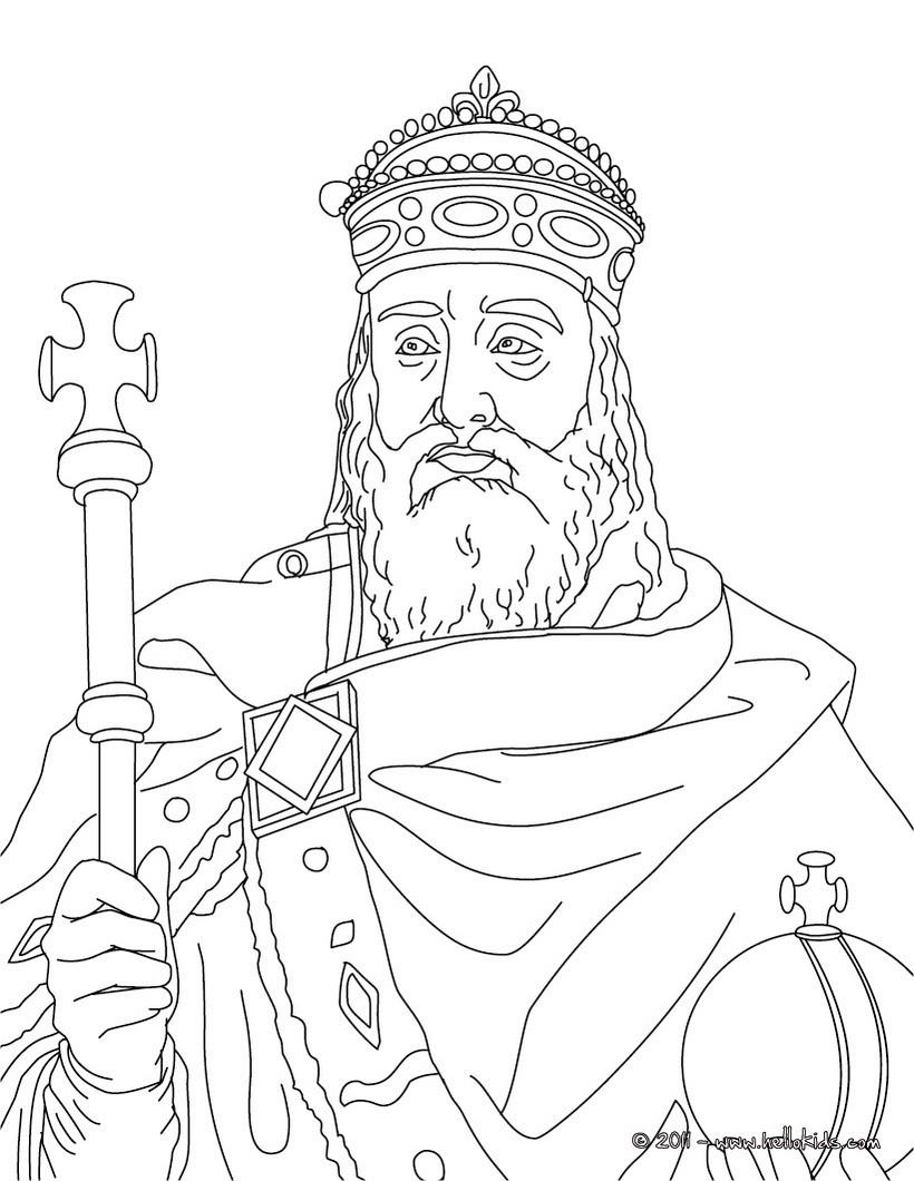 king portrait coloring pages - photo#2