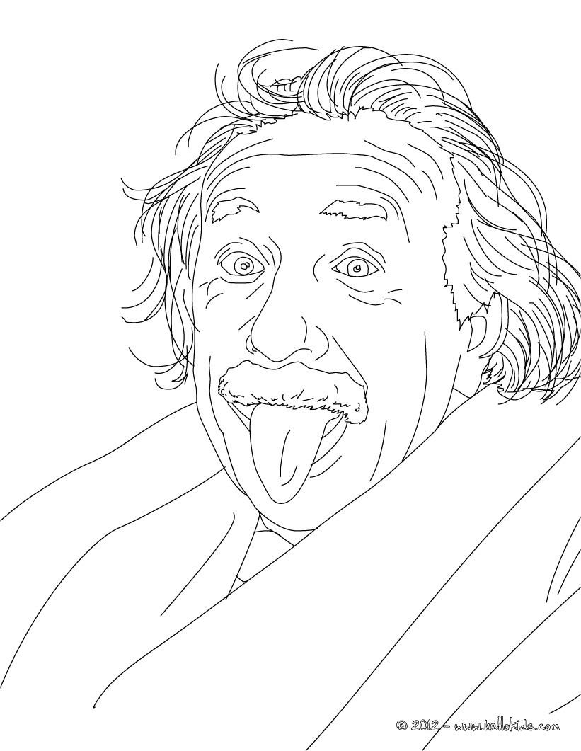 Albert Einstein Zum Ausmalen Zum Ausmalen De Hellokids Com
