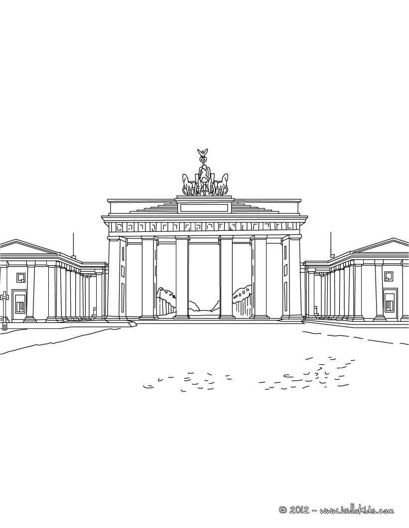 BERLIN zum Ausmalen - Ausmalbilder - Ausmalbilder ausdrucken - de ...