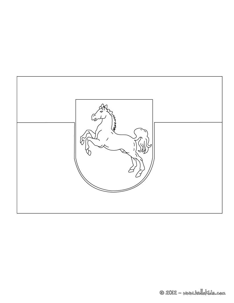 Niedersachsen Flagge Zum Ausmalen Zum Ausmalen De Hellokids Com