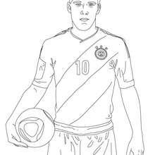 Christiano Ronaldo Spielt Fussball Zum Ausmalen Zum Ausmalen