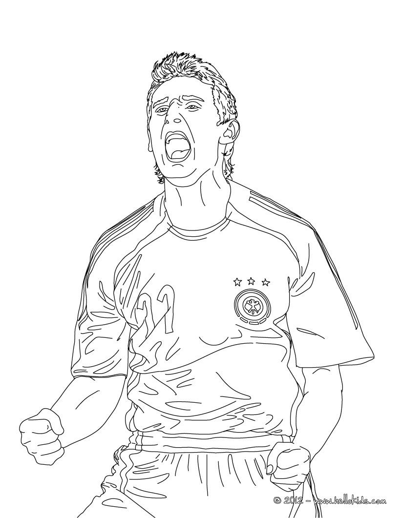 Miroslav Klose Zum Ausmalen Zum Ausmalen De Hellokids Com