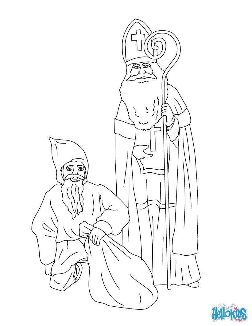 Ausmalbilder Bischof Nikolaus Kostenlos : Ziemlich Nikolaus Ausmalbilder Bilder Malvorlagen Von Tieren