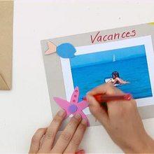 Wie man eine Strandurlaub Postkarte bastelt