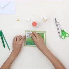 Wie man eine schöne Sonnenferien Postkarte bastelt