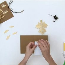 Wie man eine 3D Vogelpostkarte bastelt