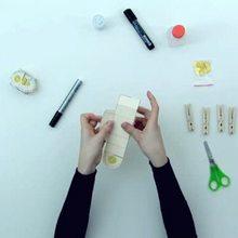 Wie man eine Osterpapierschachtel bastelt