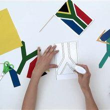 Wie man eine Südafrikanische Flagge bastelt
