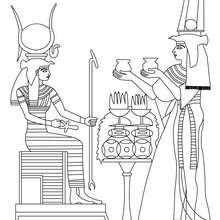 ALTÄGYPTISCHE KUNST zum Anmalen