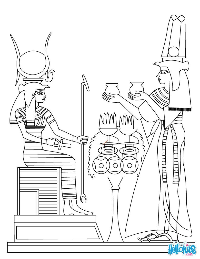 egyptian coloring pages - alt gyptische kunst zum anmalen zum ausmalen de