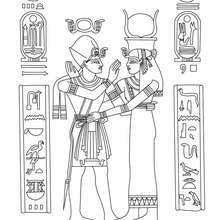 ALTER ÄGYPTISCHER PAPYRUS Ausmalbild