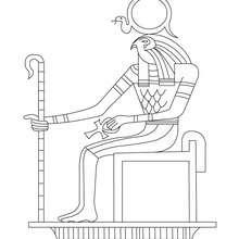 ÄGYPTISCHER GOTT Malbogen