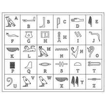 ÄGYPTISCHE HIEROGLYPHEN Ausmalbilder