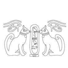 ÄGYPTISCHER PAPYRUS zum Anmalen