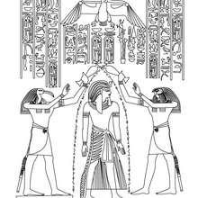 ÄGYPTISCHER PAPYRUS Bild zum Ausmalen