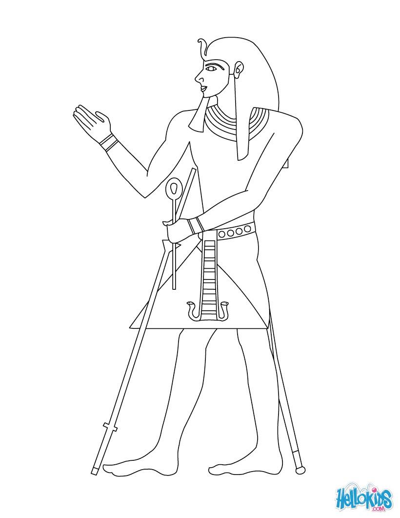 pharaoh khufu coloring pages - photo#8