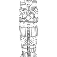 ÄGYPTISCHER SARKOPHAG zum Anmalen
