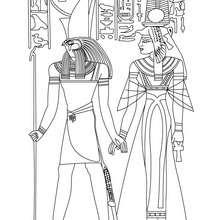 HORUS und NEFERTITI Göttinnen zum Anmalen
