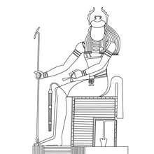 KHEPRI ägyptischer Gott Malbogen