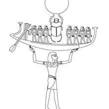 NUN ägyptische Göttin zum Ausmalen