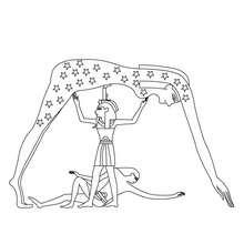 NUT ägyptische Göttin Anmalbild