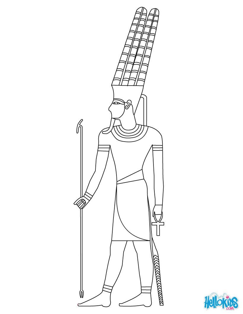 Pharao kostenlos zum anmalen zum ausmalen for Pharaoh coloring pages