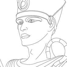 PHARAO RAMSES II Ausmalbild