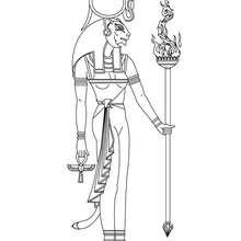 SEKHMET ägyptische Göttin zum Anmalen