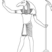 SETH Gott des Alten Ägypten Malbogen