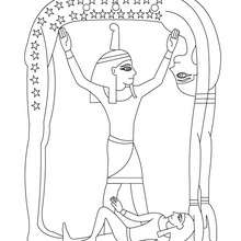 SHU ägyptische Göttin gratis zum Anmalen
