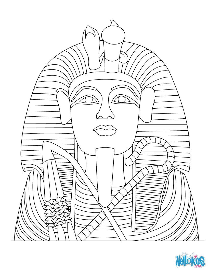 tutankhamun statue zum anmalen zum ausmalen  dehellokids