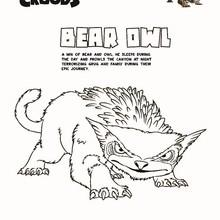 BEAR OWL ausdrucken und anmalen
