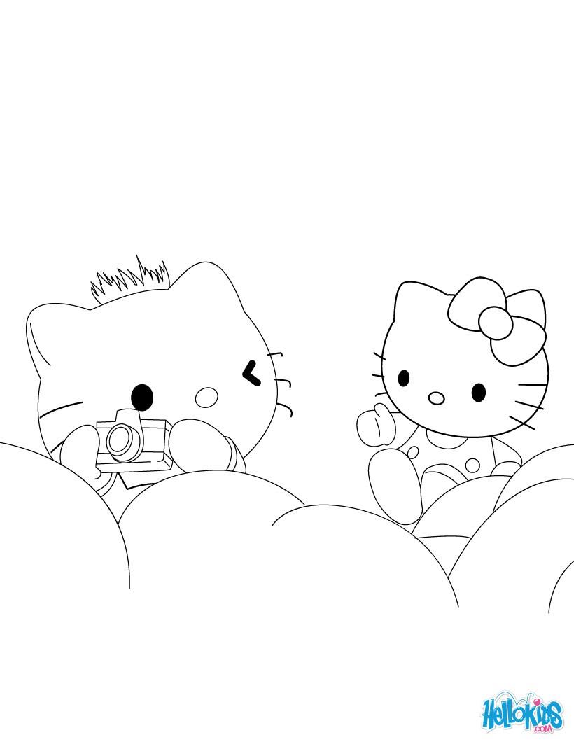 Ausmalbilder Hello Kitty Kostenlos Drucken : Hello Kitty Zum Ausmalen De Hellokids Com