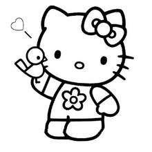Hello Kitty Zum Ausmalen De Hellokids Com