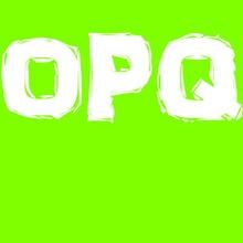 Buchstaben O+P+Q
