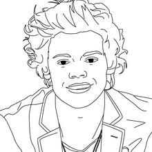 Harry Styles von 1D zum Ausmalen
