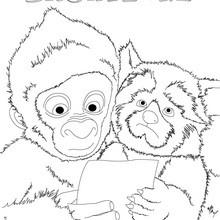 SNOWFLAKE der Gorilla drucken und ausmalen