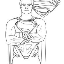 SUPERMAN gratis ausmalen