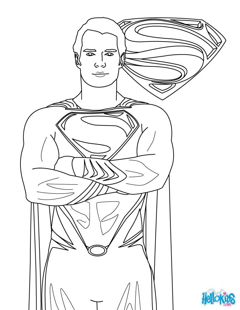 Superman gratis ausmalen zum ausmalen - de.hellokids.com