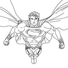 SUPERMAN drucken und anmalen