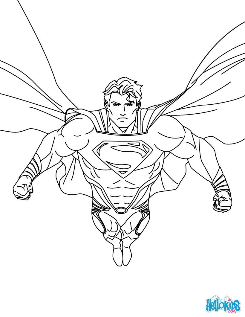 Superman online ausmalbild zum ausmalen - de.hellokids.com